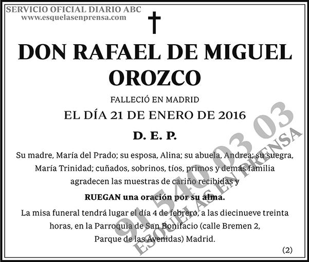 Rafael de Miguel Orozco